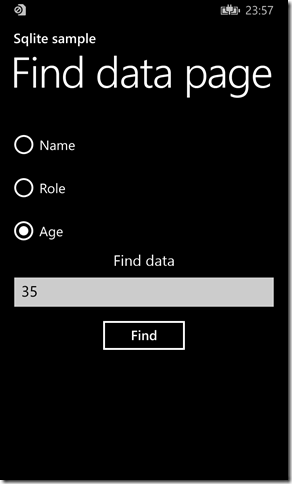 IMMAGINE 1.13 thumb1 - Parte due, Sqlite in Windows Phone 8.1
