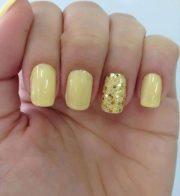 cheery and bright yellow nails