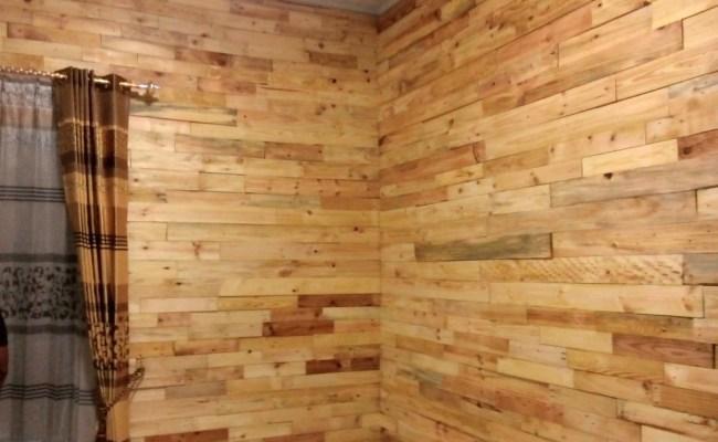 Dinding Kayu Pinus Jati Belanda