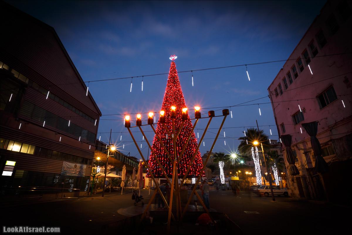 Рождество и Ханука в Яффо   Jingle Hanukkah Bells of Christmas in Jaffa   LookAtIsrael.com - Фото путешествия по Израилю