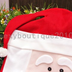 Kirklands Christmas Chair Covers Cheapest Office Chairs Household Santa Claus Face Holiday Decorations