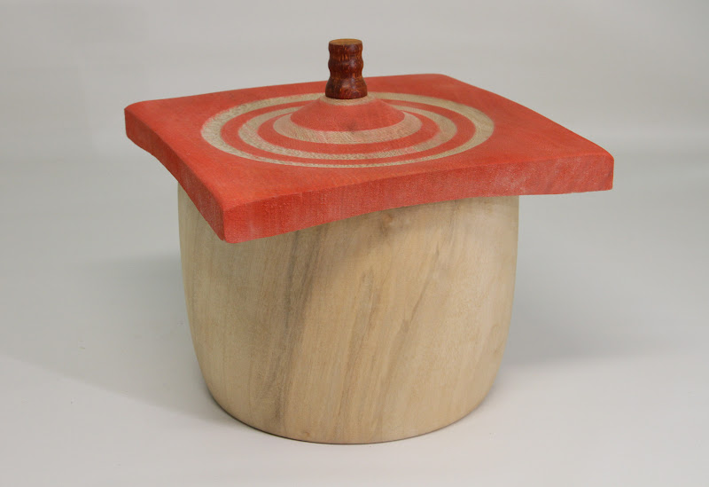 """Jeff Tate 6"""" x 6"""" Beads of Courage box [sycamore]"""