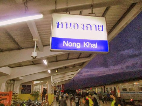 August 2013 - At the Nong Khai train station, Thailand, on the way to Vientiane, Laos.