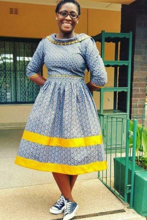 Shweshwe 2019 Nice Traditional Dresses ⋆ Fashiong4