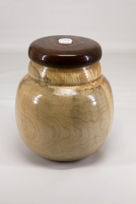 "Stephen Price 7"" x 6"" Beads of Courage box [maple, walnut, bead]"