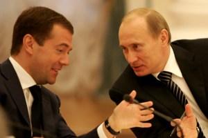 Medvedev with Putin