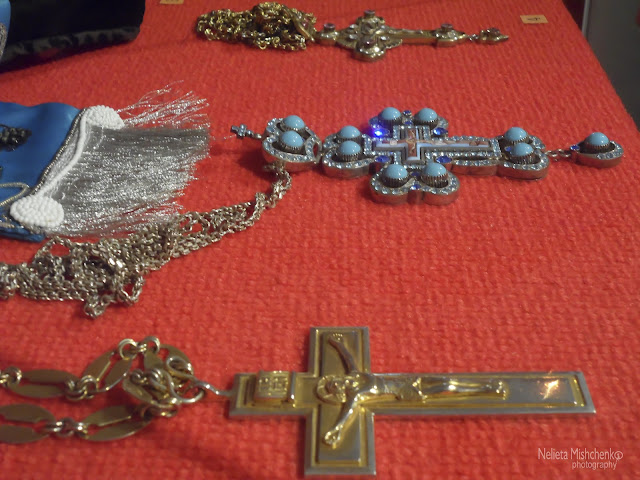 Jewellery on display at the Novodevichy Monastery.
