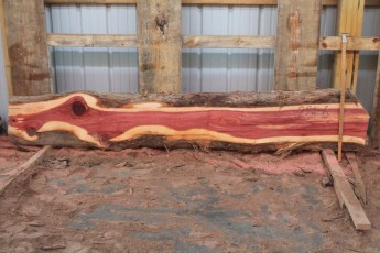 "Cedar 281-6  Length 8' 6"" Max Width (inches) 10 Min Width (inches) 8 Thickness 8/4  Notes : Kiln Dried"