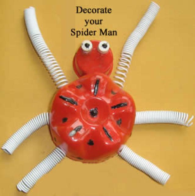 Aranha de garrafa pet