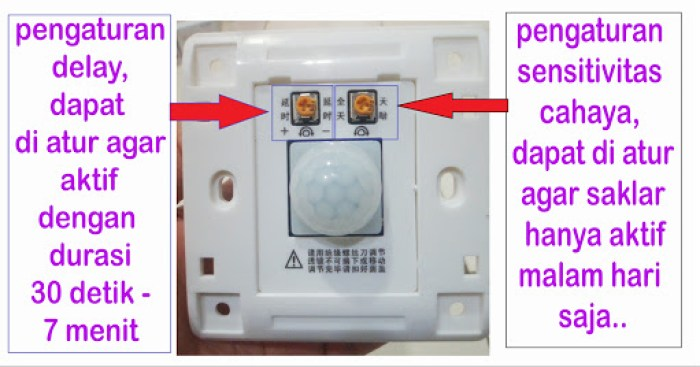 cara pasanga saklar sensor pergerakan
