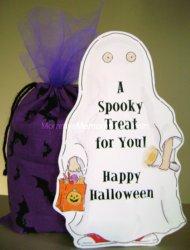 sneak peek at our Halloween Draw String Favors