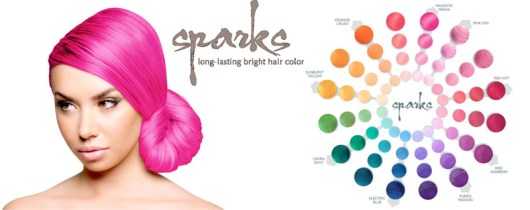 sparks pink kiss hair color dye