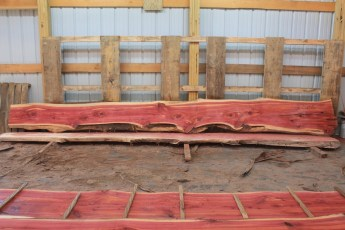 Cedar 279-6  Length 17' Max Width (inches) 22 Min Width (inches) 13 Thickness 8/4  Notes : Kiln Dried