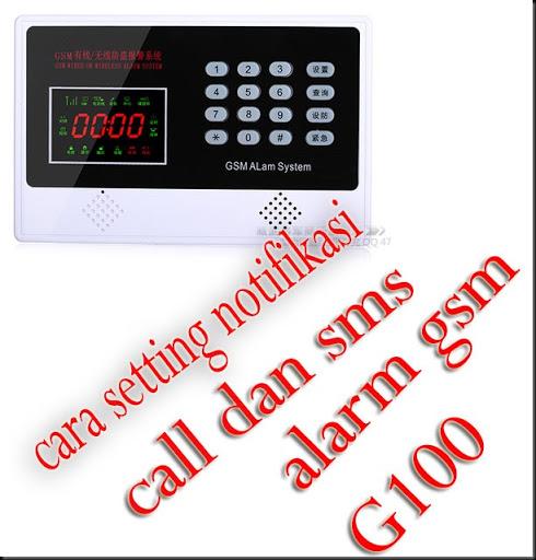 alarm gsm g100 settings