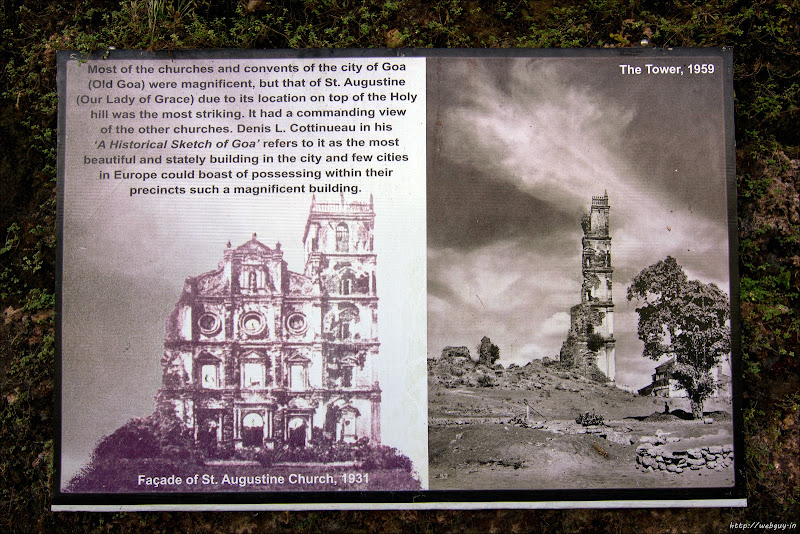 Old photo of St. Augustine Church, Old Goa