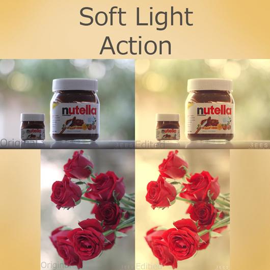 Efeito de luz suave action