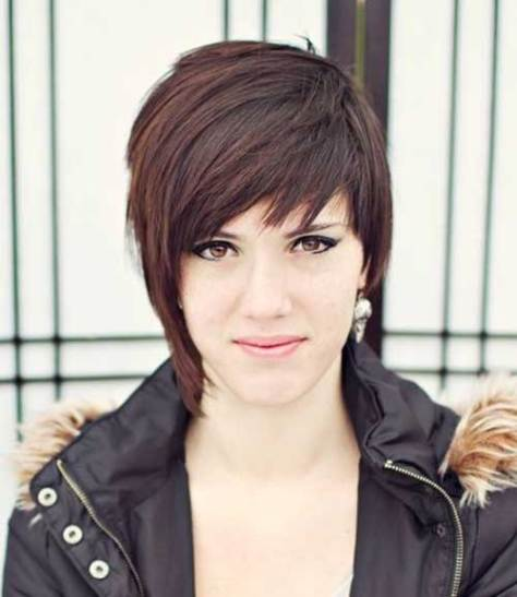 Messy Edgy Straight Pixie Hairstyles 2016 Styles 7