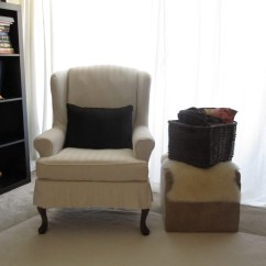 How To Make Slipcover For Wingback Chair Diy Dining Room Chairs Plans My Wing Reveal A