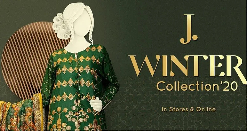 Junaid Jamshed Unstitched Winter collection 2020 Available Online and In-stores