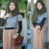 model hijab simple casual 2017