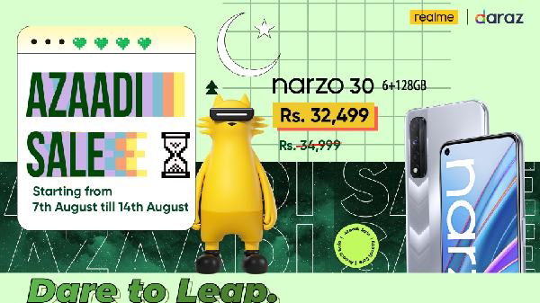Celebrate real Azaadi with realme Azaadi Sale 2021 with up to 30% in Discounts