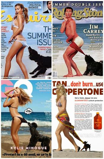anúncio coppertone menina cachorrinho famosos imitam