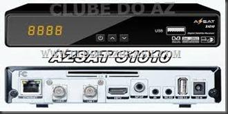AZSAT S1010 NOVA ATUALIZAÇÃO