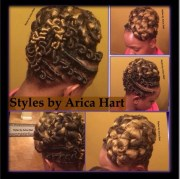 stuffed twist and updo hair styles