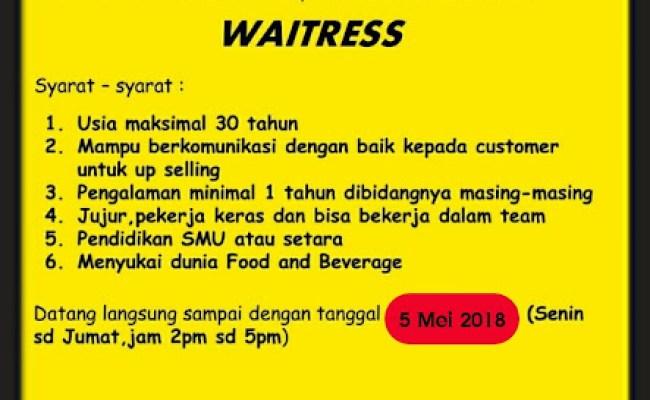 Lowongan Kerja Part Time Restoran Jakarta Selatan Info Cute766