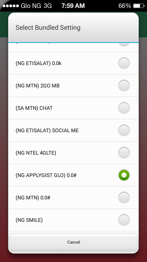 SOLUTION FOR GLO DATA NOT COMING UP