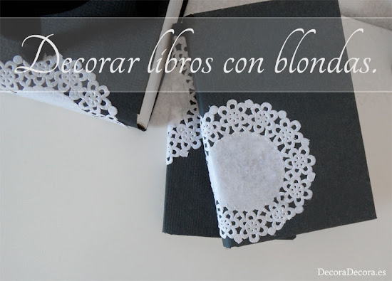 Idea para decorar libros.