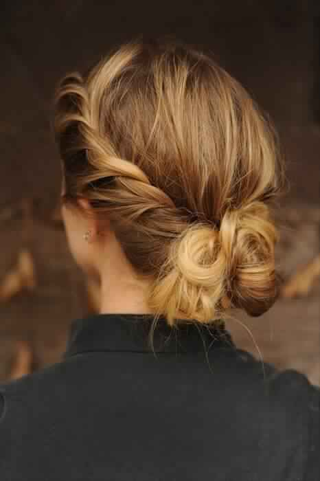 Cute Braided Updo Hairstyle