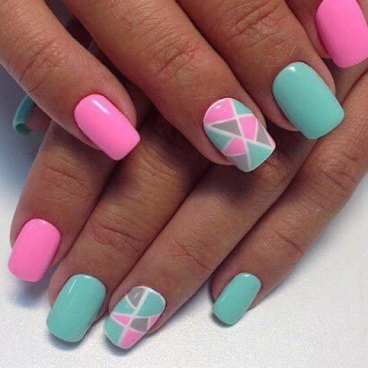 Triangle Nail Geometric forms