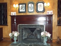 >Living Room  Fireplace Mantel and Wood Radiator Covers ...