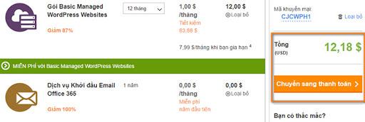 Hướng dẫn mua hosting giá rẻ tại Godaddy