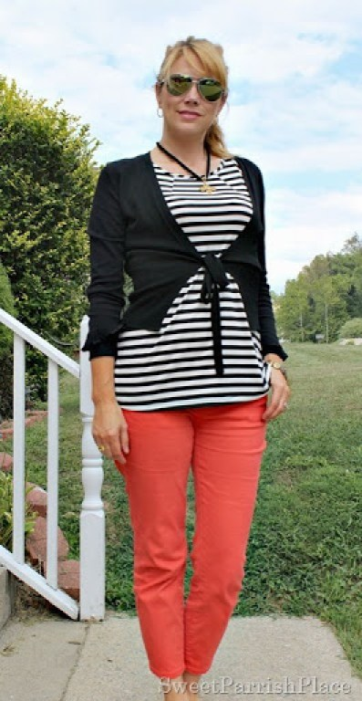 coral-jeans-black-striped-shirt-black-cardigan1