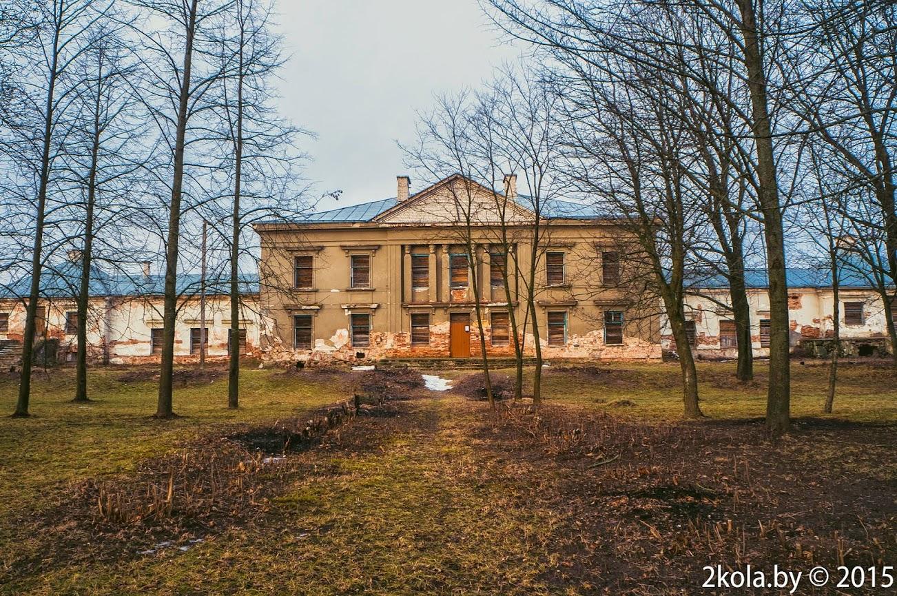 Палац Радзівілаў. в. Паланэчка. студзень 2015г.