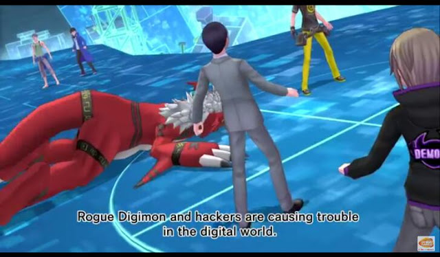 Screenshot from the english subbed trailer of Digimon Story: Cyber Sleuth - Hacker's Memory