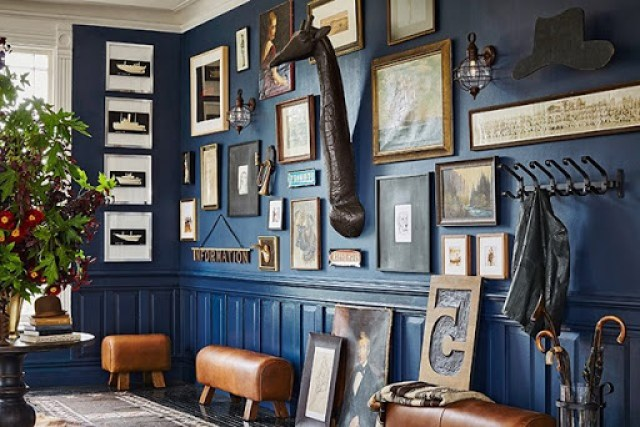 Ken Fulk Blue Wall