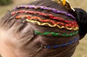 hair makeover ribbon braids