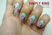 nail art fun with flamingos