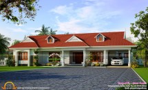 Single Storied House With Dormer Windows - Kerala Home