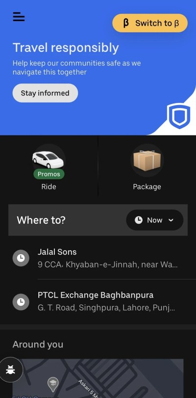 Uber Connect in Pakistan