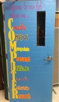 A Techy Teacher with a Cricut: Computer lab door or ...