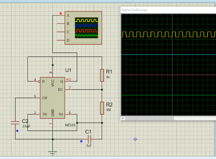 Astable Mode of 555 Timer