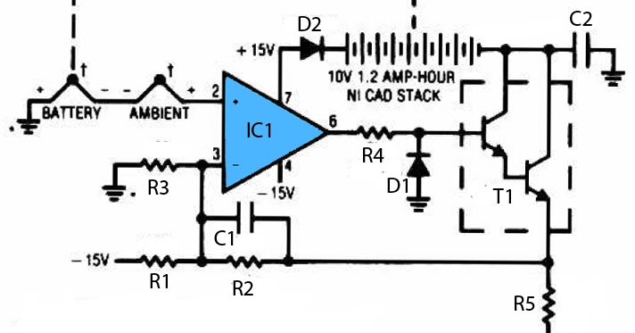 thermal controlled battery charger