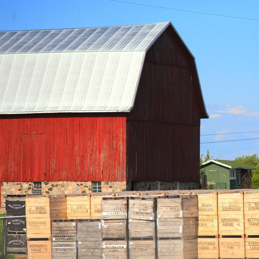 barn and crates