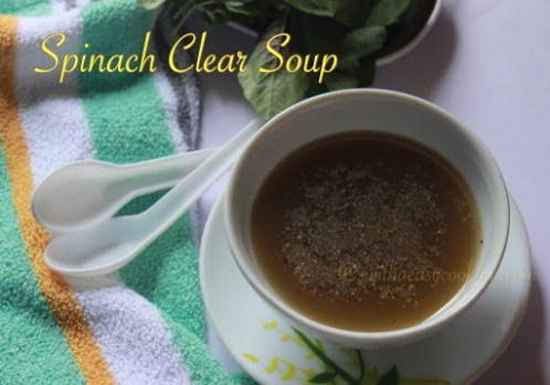 Spinach clear soup1