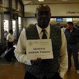 My Limo Driver waits for me at the Sacramento Airport, CA, USA