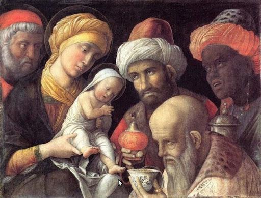 Andrea Mantegna (Isola di Carturo, 1431 – Mantova, 13 settembre 1506), Adorazione dei Magi. (fonte web)